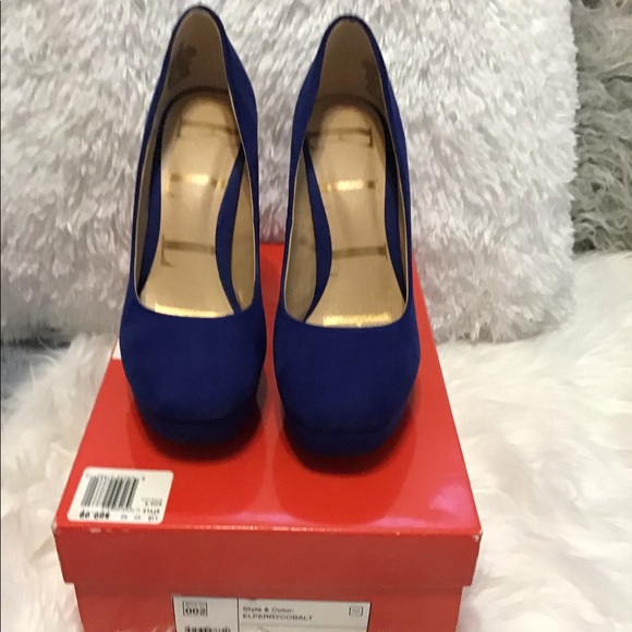 Elle Shoes - Elle cobal blue faux suede pumps